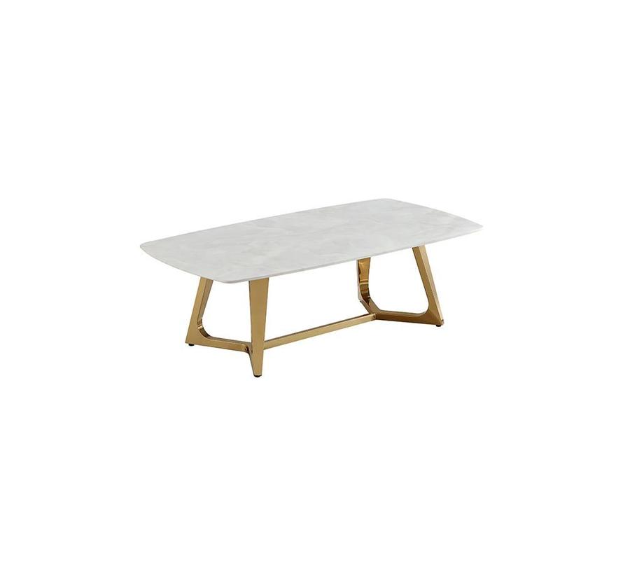 Bari salontafel - Aerenia - Goud/Marmer