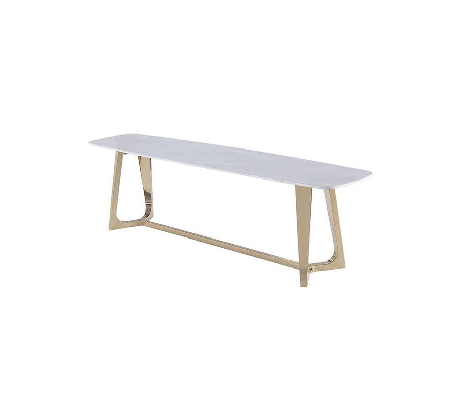 Bari TV tafel - Aerenia - Goud/Marmer