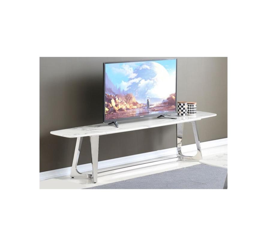 Bari TV tafel - Aerenia - Zilver/Marmer