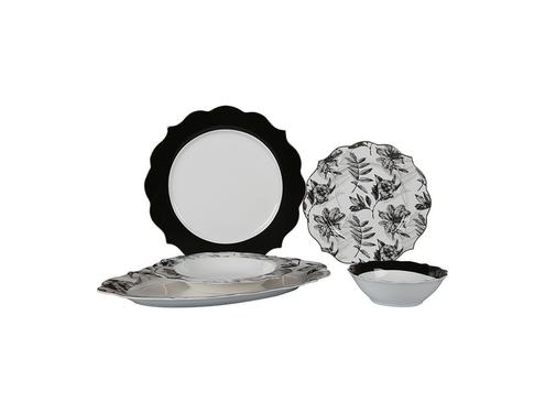 Bricard Bricard Dinner Set- Bron - Zwart 25-delig