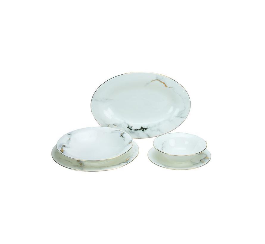 Bricard Dinner Set - Drancy - Marble 25-delig