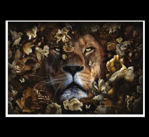 Eric Kuster Stijl Lion King  Glasschilderij 160x110
