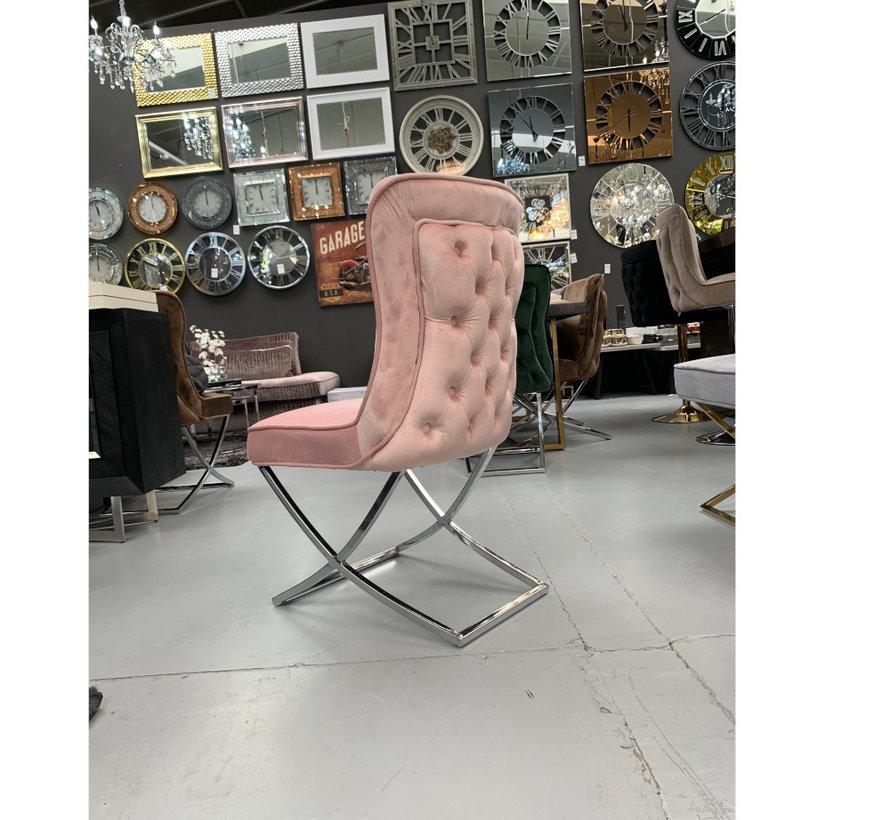 Rixos Velvet Style Stoel - Pink