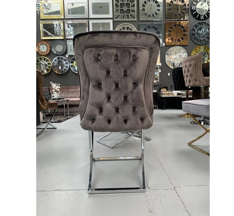 Rixos Velvet Style Stoel - Grey