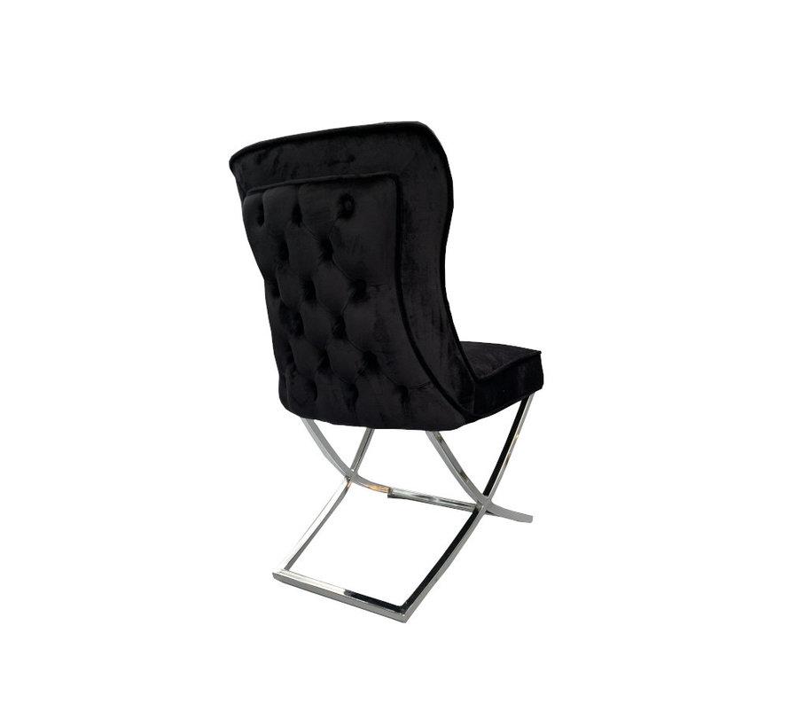 Rixos Velvet Style Stoel - Black