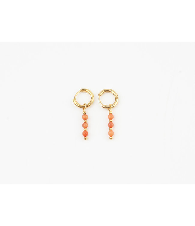 Mon cheri earrings soft orange - stainless steel