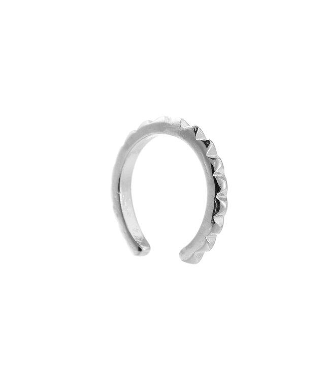 Lola Minimalistic earcuff - silver plated