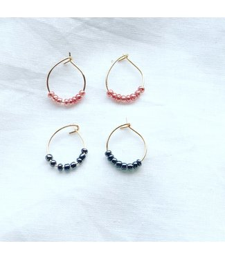 Sweet Beeds Earrings - Gold Plated