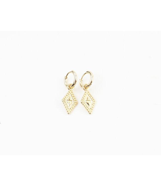 La vie est belle earrings gold - stainless steel