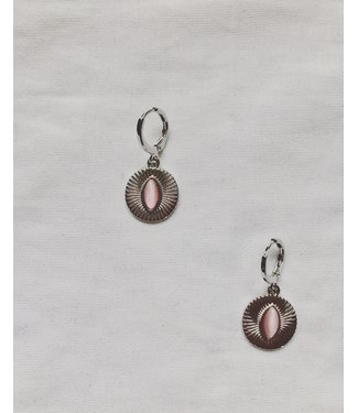 LINN Earrings Silver & Pink