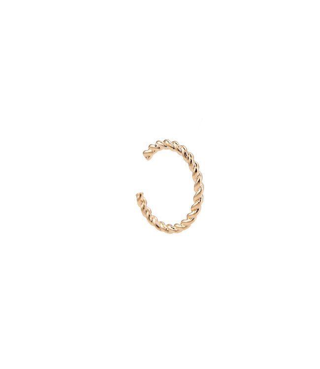 Twisted Earcuff - Gold Plated