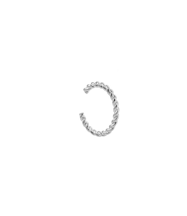 TWISTED EARCUFF - SILVER PLATED