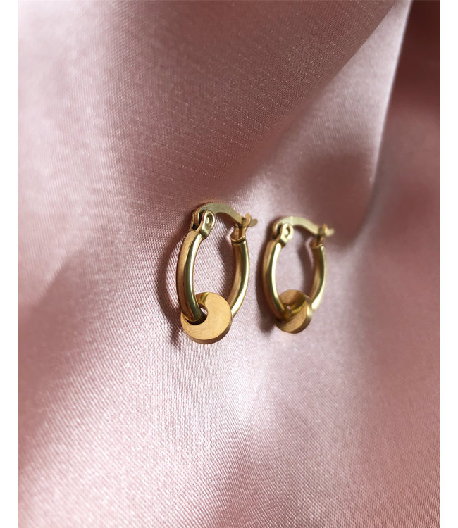 'Petite Pièce' Earrings Gold - Stainless Steel
