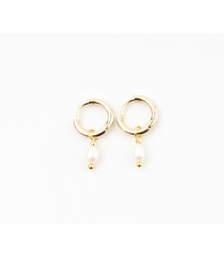 'Perle De Mer' Earrings Gold - Stainless Steel
