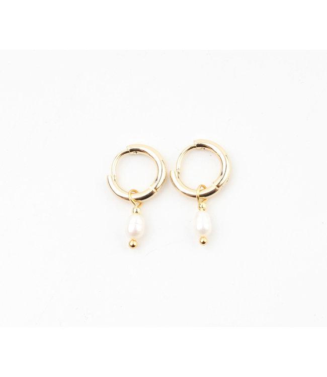 'Perle De Mer' Earrings Gold - Stainless Steel