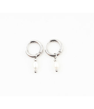 'Perle De Mer' Earrings SILVER - Stainless Steel