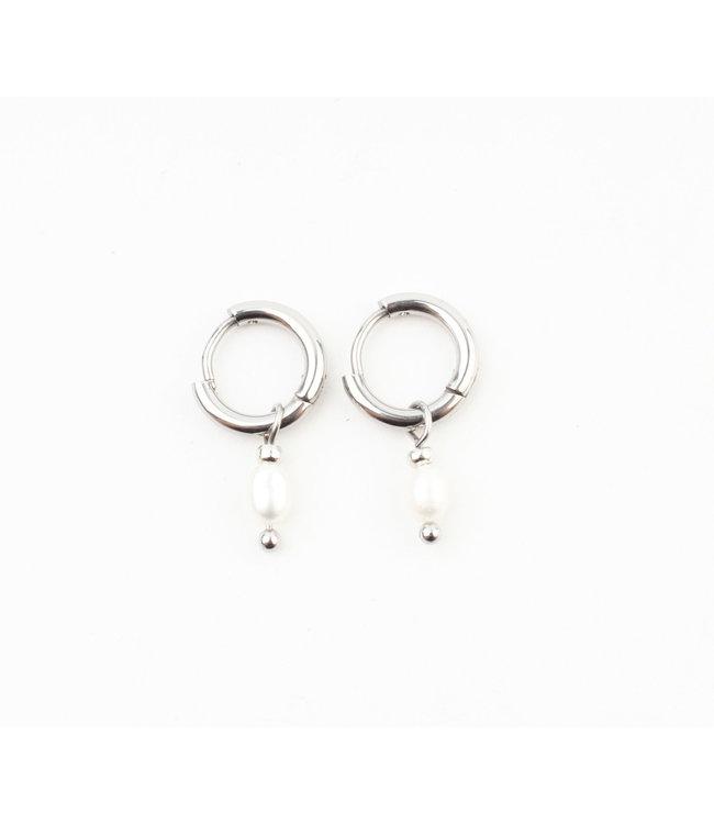 'Perle De Mer' Earrings SILVER - Stainless Steel