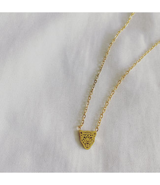 Wild Panther Necklace Gold - Stainless Steel