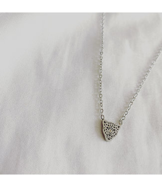 Wild Panther Necklace Silver  - Stainless Steel