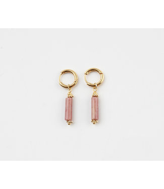 'Olivia' Earrings Old Pink Gold - Stainless Steel