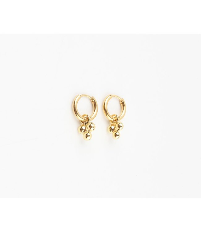 'Simplicité' Earrings Gold Stainless Steel