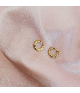 Basic Gold Earrings 1 CM - Stainless Steel