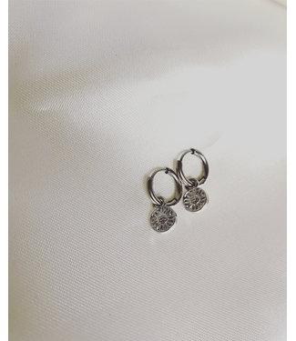 'Le tournesol' Earrings Silver - Stainless Steel