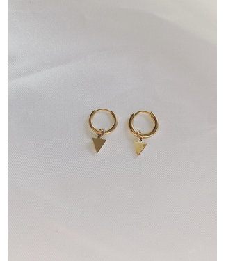 Little Triangle Earrings Gold - Stainless Steel