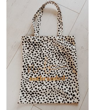 Notbranded 'The Bag' ♡ Canvas tas cheetah