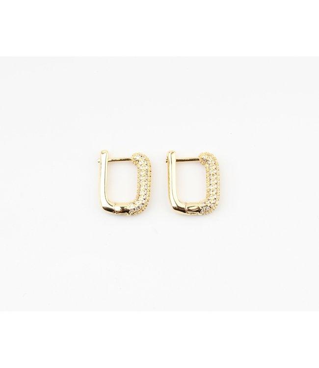 'Sparkle ' Earrings Gold (verguld)