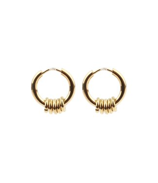 'Bali' Earrings 1 CM OF 2 CM Gold - Stainless Steel