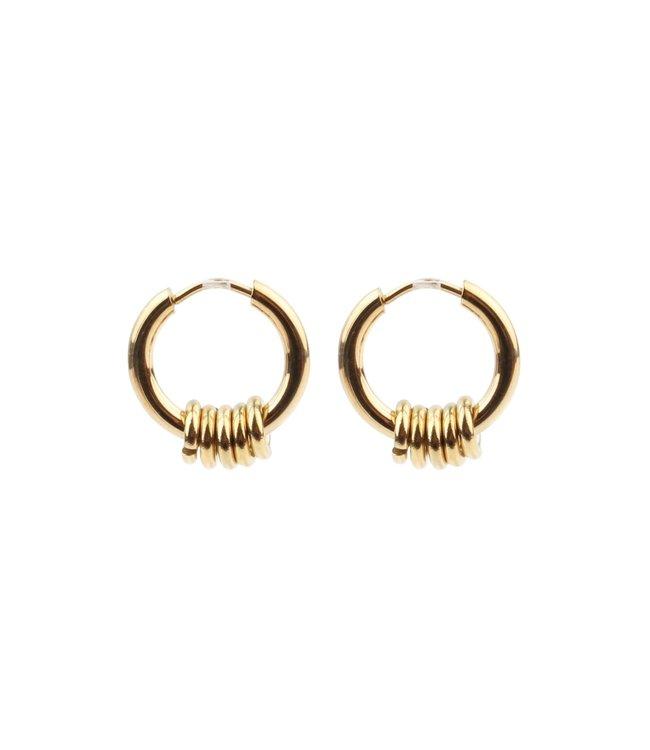 'Bali' Earrings 1 CM OF 2 CM Gold - Stainless Steel