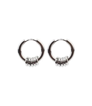 'BALI' EARRINGS SILVER - STAINLESS STEEL