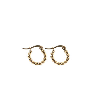 'Rosalie' twisted hoops Gold - Stainless Steel
