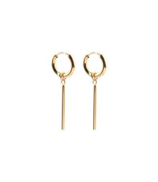 'Frais' Earrings Gold - Stainless Steel