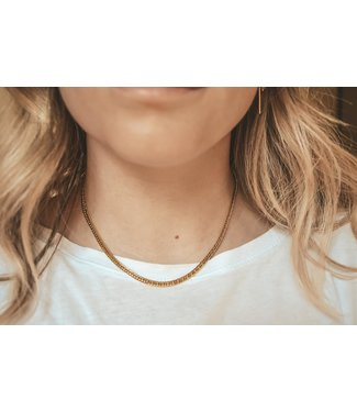 'Ola' Necklace Gold - Stainless Steel