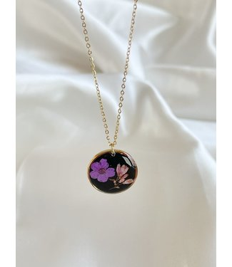 Dried Flower Necklace 'l'amour de soi' Gold - Stainless Steel