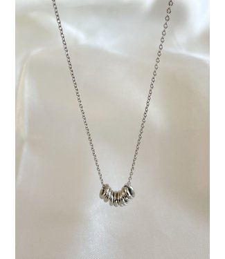 'Bali' Necklace Silver - Stainless Steel