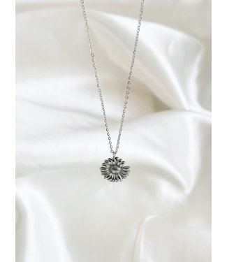 Daisy Necklace Silver  - Stainless Steel