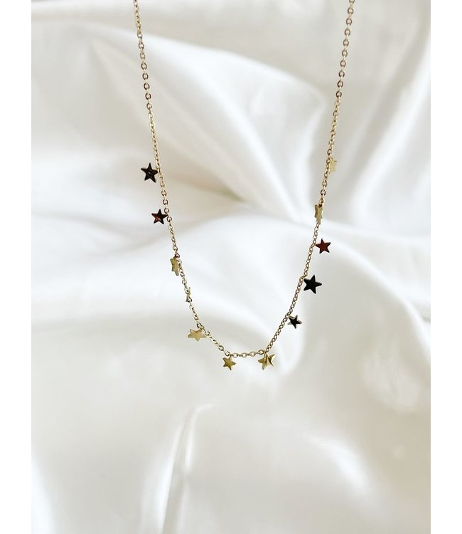 Gold Stainless Steel 'Little Stars' Necklace