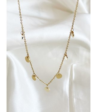 Gold Stainless Steel 'Coins' Necklace