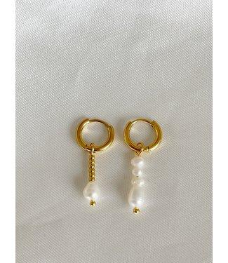 'Beau et différent' Earrings Asymmetrische oorbellen - stainels steel