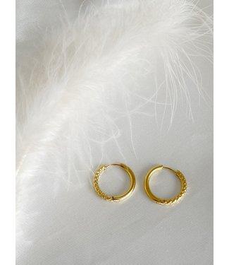 'Lulu' Earrings 2 CM Gold - Stainless Steel