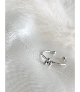 'SIMPLICITÉ' Ring Silver - Stainless Steel (verstelbaar)