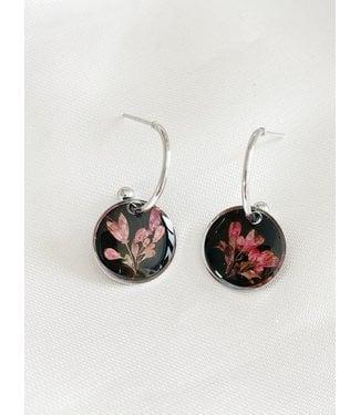 Dried Flower Earrings 'l'amour de soi' Silver - Stainless Steel