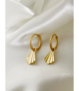 'Louise' Earrings Gold - Stainless Steel