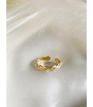'Marrakech' verstelbare ring gold - Stainless Steel
