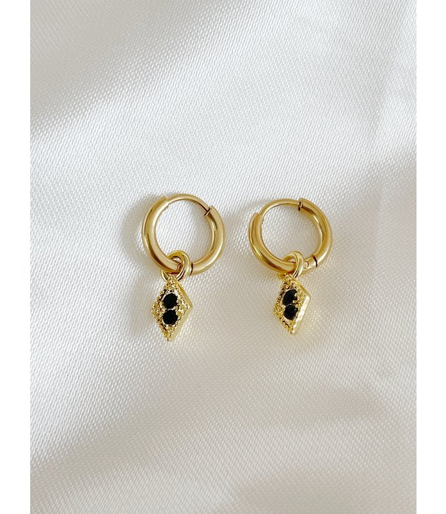 'Mae' Triangle Earrings Gold - Stainless Steel