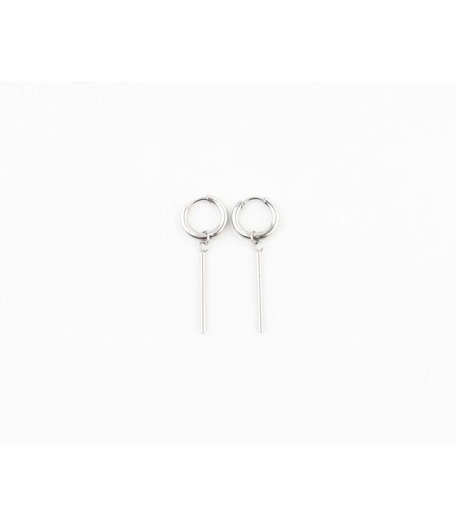 'Frais' Earrings Silver - Stainless Steel
