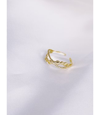 'DONNA' Verstelbare ring Gold - Stainless Steel
